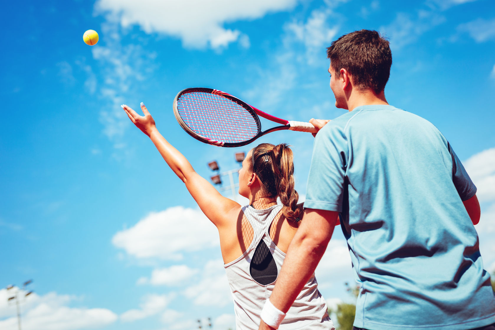 Be a tennis coach